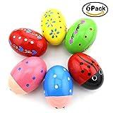 Baby Kinder Holz Musical Percussion Egg Shakers Maracas Spielzeug für 0-3 Jahre alte Ostereier Pädagogisches Spielzeug Musik spielen Geschenke für Kinder(Zufällige Farbe)