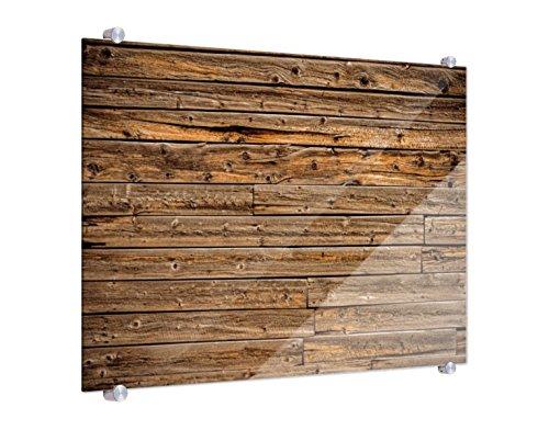 Klebefieber Spritzschutz Holzwand B x H: 80cm x 60cm
