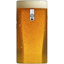 Snoogg Beer Glass Up Designer Protective Back Case Cover For One Plus Two