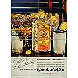 Doppelganger33 LTD Advertising Drink Alcohol Gin Spirit Booze London Wand Kunst Multi Panel Poster drucken 33x47 Zoll