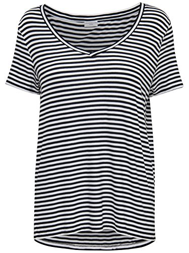 JACQUELINE de YONG Viskose T -Shirt Shirt JDYSPIRIT Stripe Top 15126267 cloud stripes