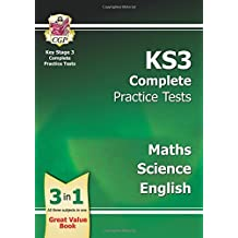 KS3 Complete Practice Tests - Maths, Science & English (CGP KS3 Practice Papers)