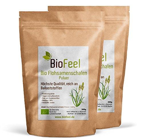 BioFeel – Bio Flohsamenschalenpulver, 600g, 2er Pack