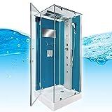 AcquaVapore DTP6038-2102L Dusche Dampfdusche Duschtempel Duschkabine 100x100, EasyClean Versiegelung der Scheiben:2K Scheiben Versiegelung +99.-EUR - 6