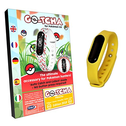 Go-Tcha LED-Touch-Armband Pikachu GELB Edition Version 2018 für Pokémon Go (Alternative zu Go Plus)