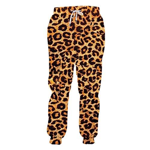 Kostüm Rock Leopard Star - Jogger Pants Homme Mode Lang Tier 3D Hose Drucken Leopard Jogginghose Streetwear Übergroßen Kleidungsstück Mann Herbst Hosen Leopard XL