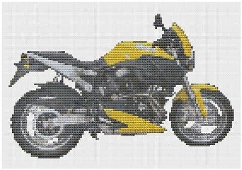 Jaune Buell Moto kit de point de croix