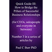 Quick Guide III - How to Bridge the Pillars of Successful Business Relationships (Quick Guides to Business Book 3)