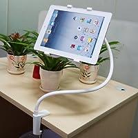 Xcellent Global LAZY MAN Supporto da Tavolo o da Letto per Tablet iPad Air 5 Samsung Girevole a 360 Gradi Bianco M-CA004