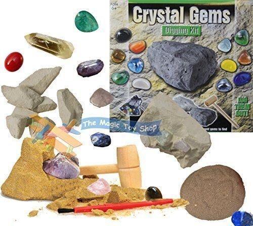 (New Kristall Gems Graben Bergbau Ausgrabung Kit Dig Out Your Own Rock Edelsteine Set)