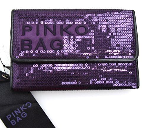Pinko portafoglio donna paillettes bronzo o viola art. disinnesco 12d03x z619 unica - one size viola - purple