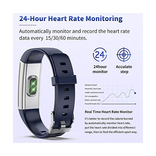 Fitness Wristband Tracker Activity Sports Watch with Pedometer Heart Rate Monitor Multiple Sports Mode Step Calorie… 7