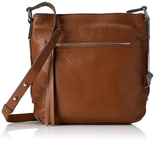 Clarks Damen Topsham Jewel Schultertasche, Braun (Tan Leather), 10x25x31 cm - Clark Taschen Für Frauen