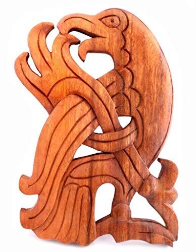 Windalf Munin - Cuadro de Pared (24 cm, Madera), diseño de Cuervo Vikingo