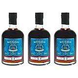 Ron Barco - De Cargas 15 Jahre Guatemala Rum 40% Vol. - (3x 0,7l) | Set inkl. lukky24 Schlüsselanhänger für Einkaufswagenchip