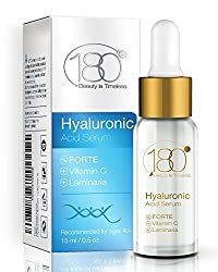 180 Cosmetics Hyaluronic Acid Serum Forte and Vitamin C Forte for MEN - Highest Concentration of Hyaluronic Acid for Mature Skin Care - Smooths and Hydrates Skin 0.5 oz / 15 ml - DAILY DEALS