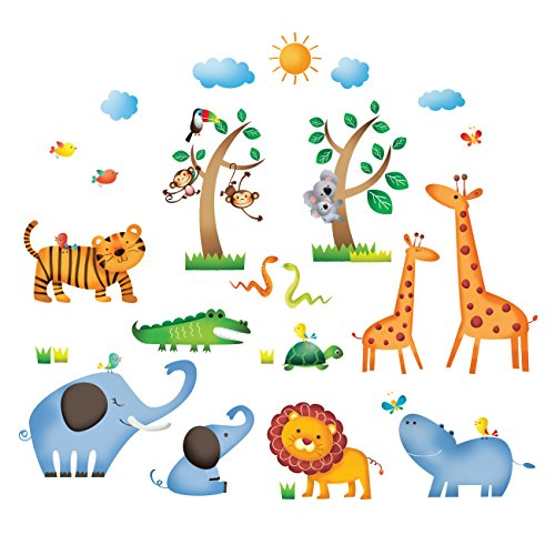 Decowall DS-8016 Animales Salvajes Jungla