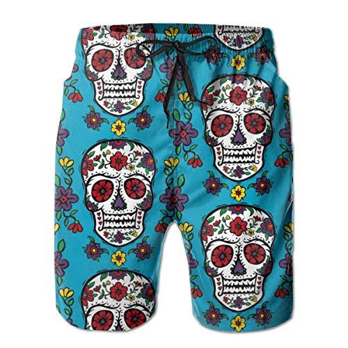 Dress rei Sugar Skull Tattoo Men's Swimming Trousers Quick-Drying Beach Polyester Shorts