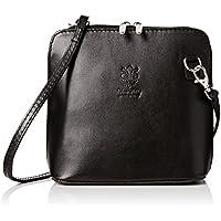 bf3cae676162 Girly HandBags V155 black Genuine Leather Rigid Cross Body Shoulder Bag