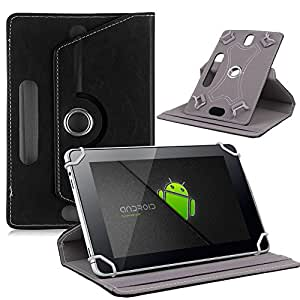 NETBOON Universal 10 inch Tablet Flip Cover Case with 360 Rotation & Stand Cover PU Leather - Black