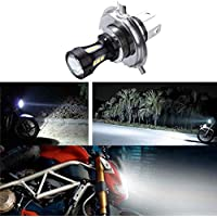 6.74x4.73CM H4 18W LED de la motocicleta 3030 CRUCE Moto Luces de bulbos de lámparas DC 12-24V 6500K Topker