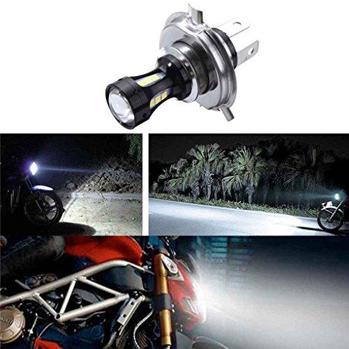 Mengonee 6.74x4.73CM H4 18W moto 3030 LED CROISEMENT moto Lampes Ampoules DC Lumières 12-24 6500K