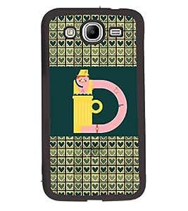 Fuson 2D Printed Alphabet D Designer back case cover for Samsung Galaxy Mega 5.8 I9150 / I9152 - D4254