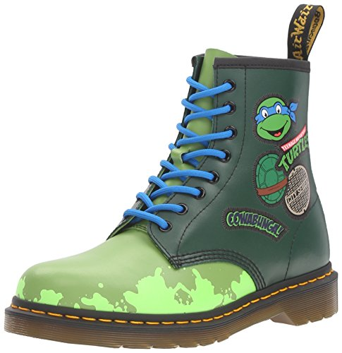 Dr.Martens Womens Leo 1460 8-Eyelet Leather Boots, Green, 43 EU -