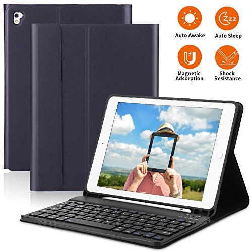 PEYOU Funda Teclado para iPad 9.7 2018