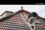 Dachfarbe seidenmatt versch. Farben Dachanstrich | BEKATEQ BE-510 Dachbeschichtung Dachsanierung Sockelfarbe Dachlack | Dachziegel Farben Dachversiegelung für Dachgaube, Dachpfannen, Blechdach, Metalldach, Ziegeldach, Flachdach | Wasser & Schmutzabweisend, Wetterbeständig, hohe Deckkraft (1L, Schwarz)