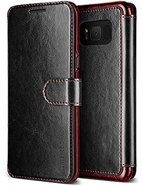 Samsung Galaxy S8Caso, VRS Diseño ® [Negro] Alta Calidad PU Funda de Piel [Capas Dandy]–Funda Tipo Cartera...