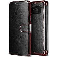 Samsung Galaxy S8Caso, VRS diseño ® [negro] alta calidad PU Funda de piel [capas Dandy]–Funda tipo cartera con 3ranuras para tarjetas para Galaxy S8(2017)