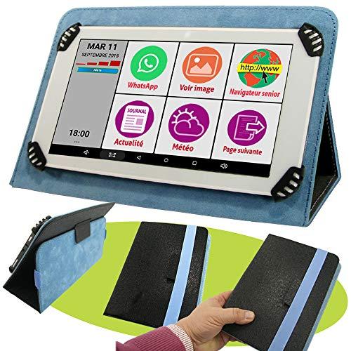 Mobiho Essentiel - La tablette INITIALE 7P avec pochette Noir et Bleu, l'essentiel pour bien...
