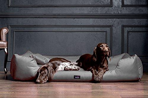 tierlando® M4-C-02 Hundebett MORITZ aus robustem CODURA Hundesofa Hundekorb Gr. L 100cm GRAPHIT/GRAU - 4