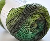 rosecolor Madejas de 12oz mano teñido Gradiente Fancy–Ovillo de lana para tejer (100% Lana de merino Artcraft