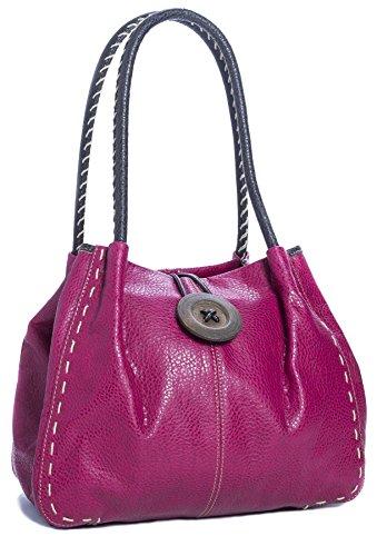 Big Handbag Shop, Borsa a spalla donna One Rosa (rosa)