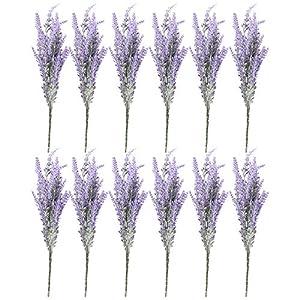 Ramo Artificial de Flores de Lavanda- 12 manojos – Plantas y flores Artificiales