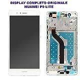 Prezzo Vetro Schermo Display LCD Touch Screen Huawei P9 LITE BIANCO WHITE Completo Cornice Telaio Frame VNS-L21 L22 L23 L31 EVA