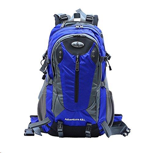 40L Bergsteigen Taschen, wasserdicht und reißfest, Outdoor Taschen, Rucksack Air Bär Blau - blau