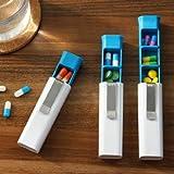 Tily pratico pillola medicina scatole Titolare Protable portaoggetti porta pillole Health Care Kit con tre scomparti immagine