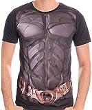 DC Comics Batman Il Cavaliere Oscuro di stampa a sublimazione Uniforme uomini della camicia (XXL, Nero)