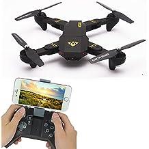 Drone Visuo XS809HW plegable, FPV, cámara con 2MP, WiFi, control de altura, mando radio control RTF de 2,4GHz