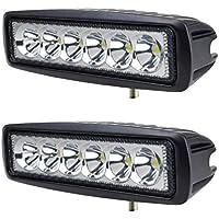 2 X 18W Led riflettori del LED FARO LAMPADA SUPPLEMENTARE PROFONDITA' PER AUTO FUORISTRADA 12V 6 LED 18W