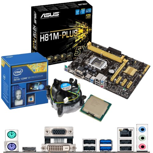 Intel Core I3 4130 3.4ghz, Asus H81m-plus Cpu & Motherboard Bundle Picture