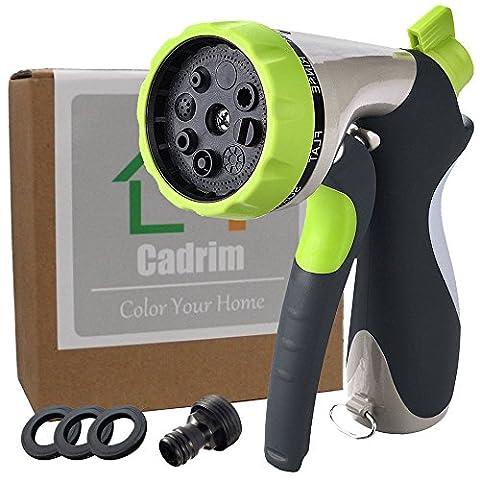 Cadrim Multifonction Pistolet d'Arrosage avec 8 Modes de Jet pour Arroser les Plantes ou Laver Votre Voiture / Animaux / Maison
