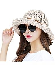 JUNGEN Verano Señoras Gorra Visera Tapa Señoras Sombrero Sombrero de playa Vacaciones Rosa luz