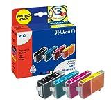 Pelikan P02 Druckerpatronen PromoPack (ersetzen Canon BCI-3eBK/BCI-6C/BCI-6M/BCI-6Y) schwarz, cyan, magenta, gelb