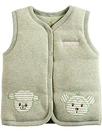 Monvecle - Chaleco de algodón para bebé, Unisex, Acolchado
