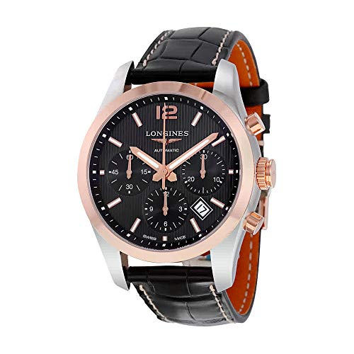 Longines Conquest Classic Black Dial Chronograph Automatic Mens Watch L27865563