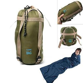 aokur Outdoor Umschlag Schlafsack Camping Reisen Wandern Multifuntion Warm Leichtgewicht Wasserdichte Armee Grün